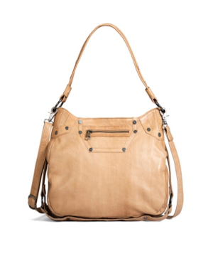 Day & Mood Harmoni Leather Hobo In Camel