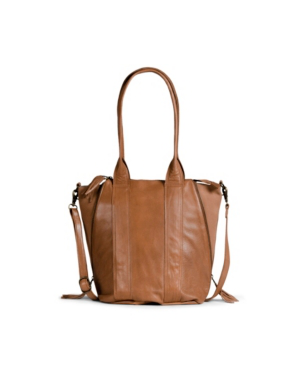 Day & Mood Halo Leather Satchel In Desert Sand