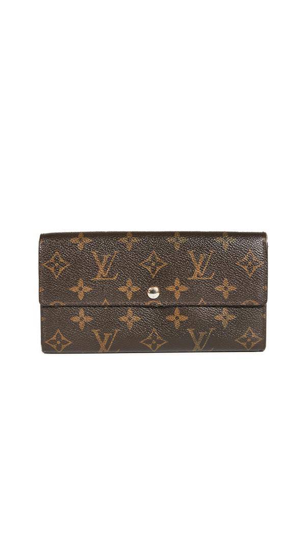 Shopbop Archive Louis Vuitton Sarah Wallet In Brown