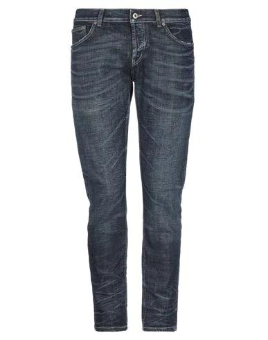 Dondup Jeans In Denim Used Slim Stretch Bottom 17 In Blue