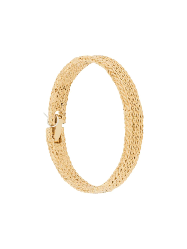 Wouters & Hendrix Knit Texture Bracelet In Gold