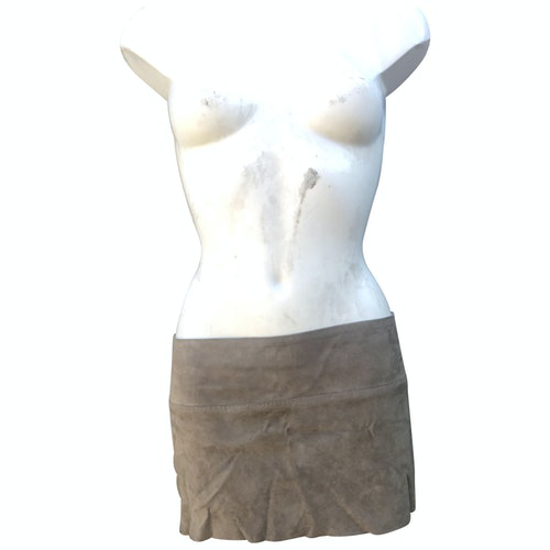 Pre-owned Stouls Beige Suede Skirt