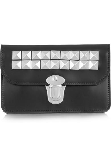 Comme Des GarÇons Studded Leather Wallet In Black