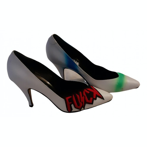 Pre-owned Fiorucci White Leather Heels