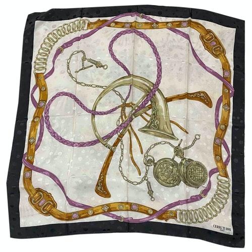 Pre-owned Cerruti 1881 Ecru Silk Scarf