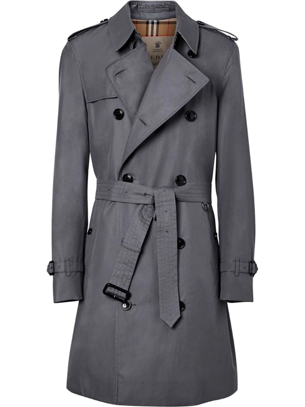 Burberry The Mid-length Chelsea Heritage Trench Coat In Grey