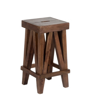 Alaterre Furniture Brookside Industrial Wood Counter-height Stool In Brown
