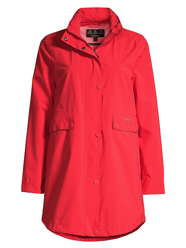 Barbour Women's Katafront Waterproof Jacket In Reef Red