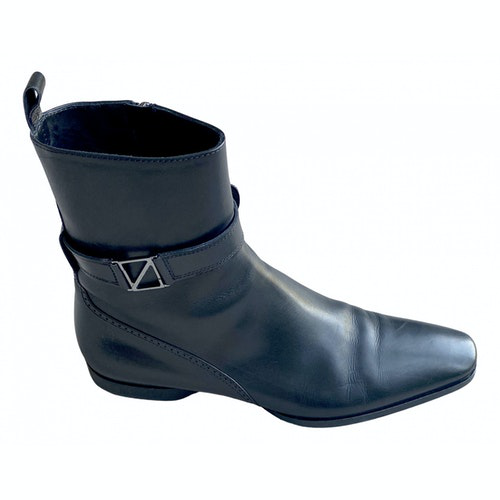 Pre-owned Z Zegna Black Leather Boots