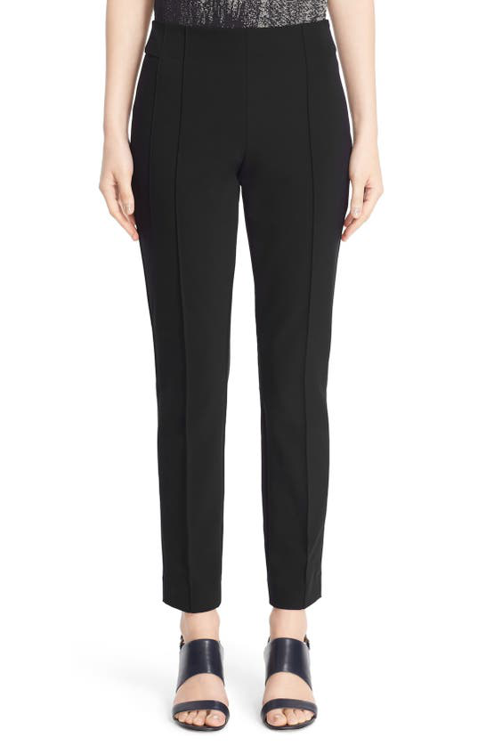 Lafayette 148 Petite Gramercy Acclaimed Stretch Pants In Black
