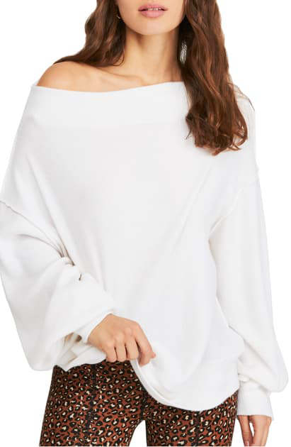 Free People Main Squeeze Hacci Sweater In White