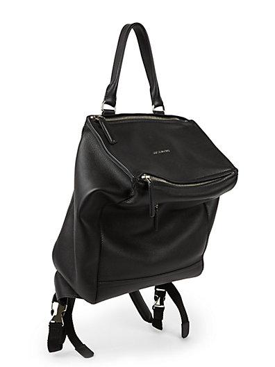 Givenchy Pandora Waxy Leather Mini Backpack In Black