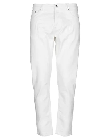 Les Hommes Men's Trousers Pants In Bianco