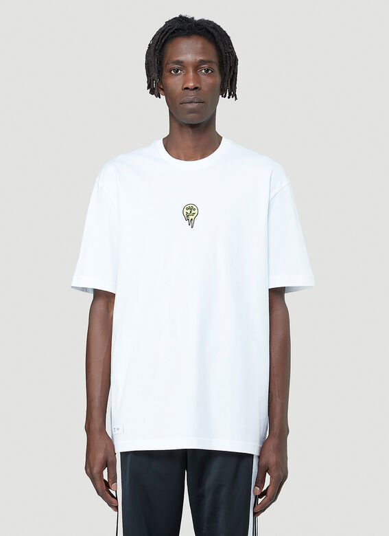 Adidas By 032c Embroidered T-shirt In White