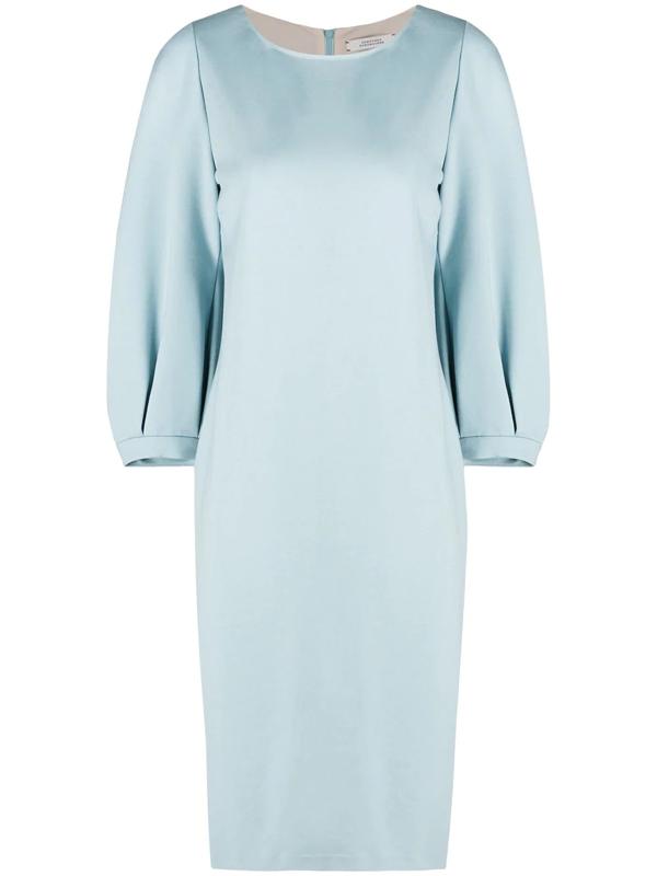 Dorothee Schumacher Emotional Essence Knit Midi Dress In Blue