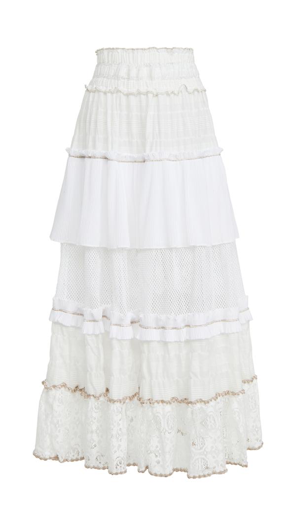Chio Maxi Skirt In White