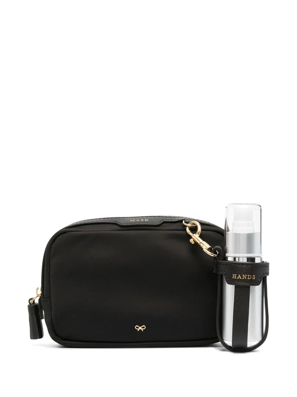 Anya Hindmarch Recycled Nylon Ppe Kit In Black