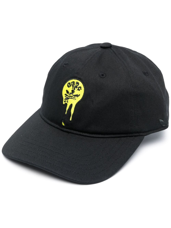 Adidas By 032c Consortium Embroidered-logo Baseball Cap In Black