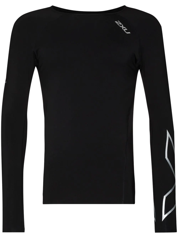 2xu Reflective-detailing Compression Top In Black