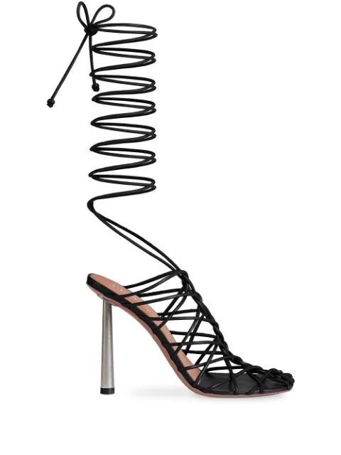 Fenty Caged In 105mm Sandals In Black