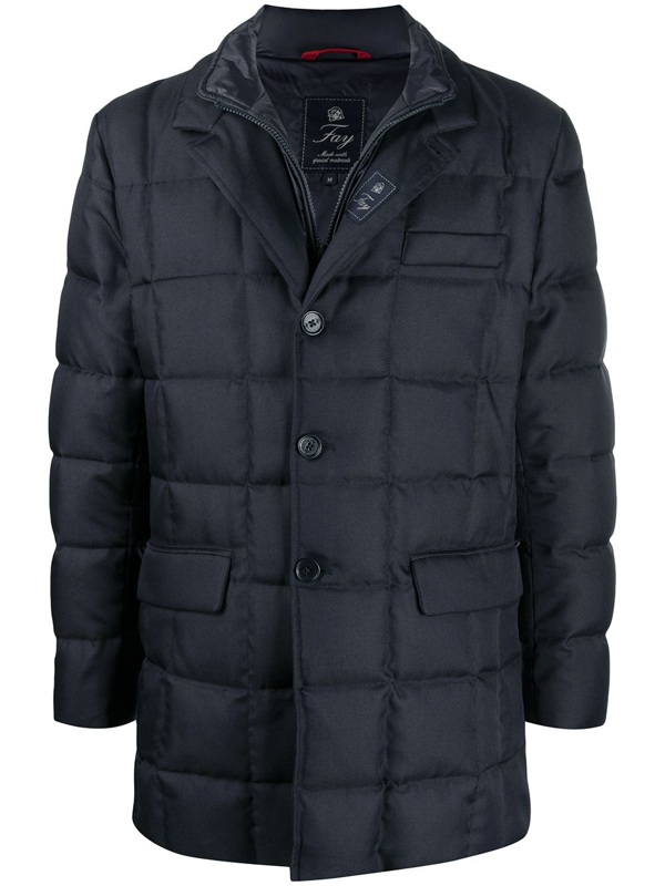 Fay Padded Coat In Blue