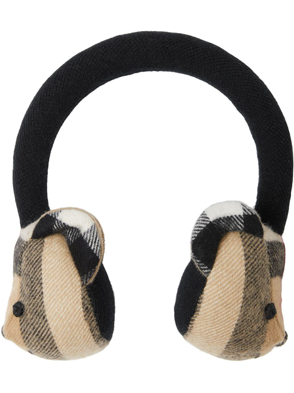 Burberry Kids' Thomas Bear Cashmere Earmuffs In Brown