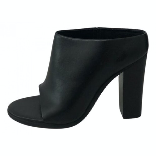Pre-owned Tibi Black Leather Mules & Clogs