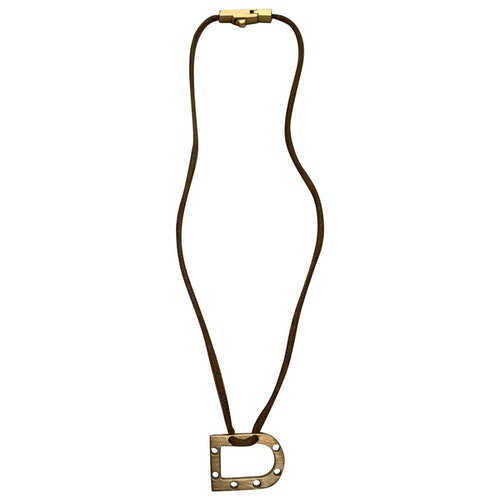 Pre-owned Delvaux Beige Leather Necklace