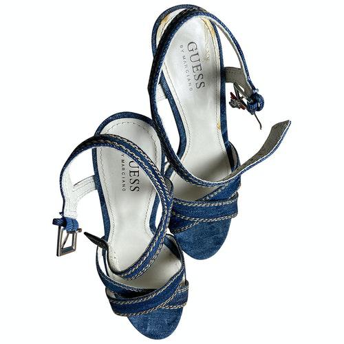 Pre-owned Guess Blue Denim - Jeans Espadrilles