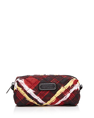 Marc By Marc Jacobs Crosby Quilt Nylon Narrow Cosmetic Case In Ruby Red Multi