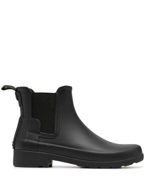 Hunter Refined Chelsea Boots In Black
