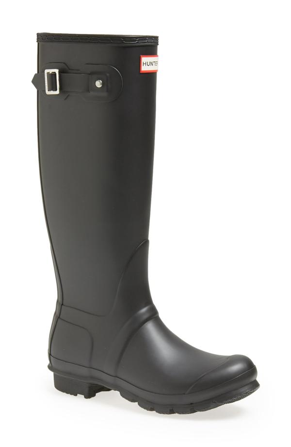 Hunter Original Tall Waterproof Rain Boot In Black Matte