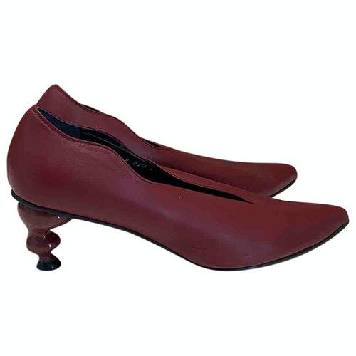 Pre-owned Yuul Yie Burgundy Leather Heels