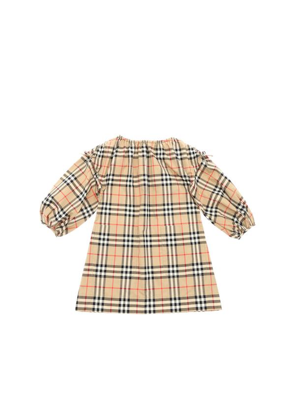 Burberry Kids' Alenka Vintage Check Dress In Beige