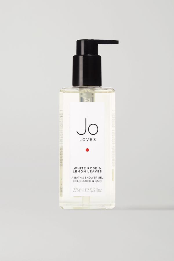 Jo Loves White Rose & Lemon Leaves Bath & Shower Gel, 275ml In Colorless