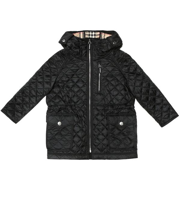 Burberry Kids' Trey Quilted Coat In Black