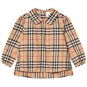 Burberry Kids' Archive Check Carole Blouse In Beige
