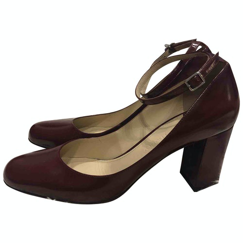 Pre-owned Theory Burgundy Leather Heels