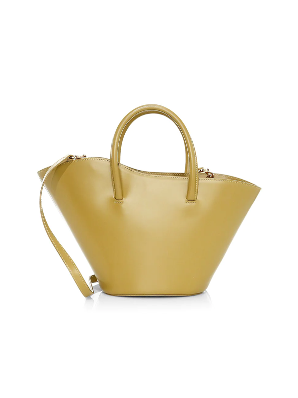 Little Liffner Women's Small Tulip Leather Tote In Olive