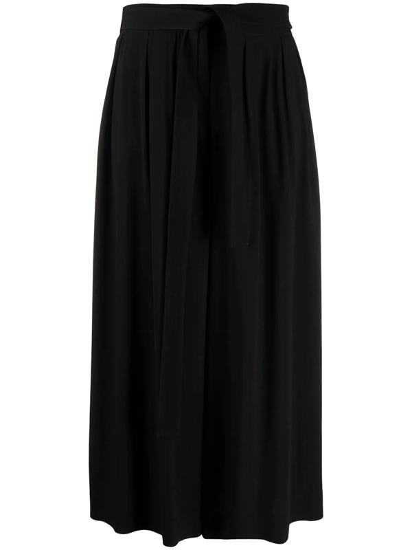 Loewe Viscose Crop Trousers In Black