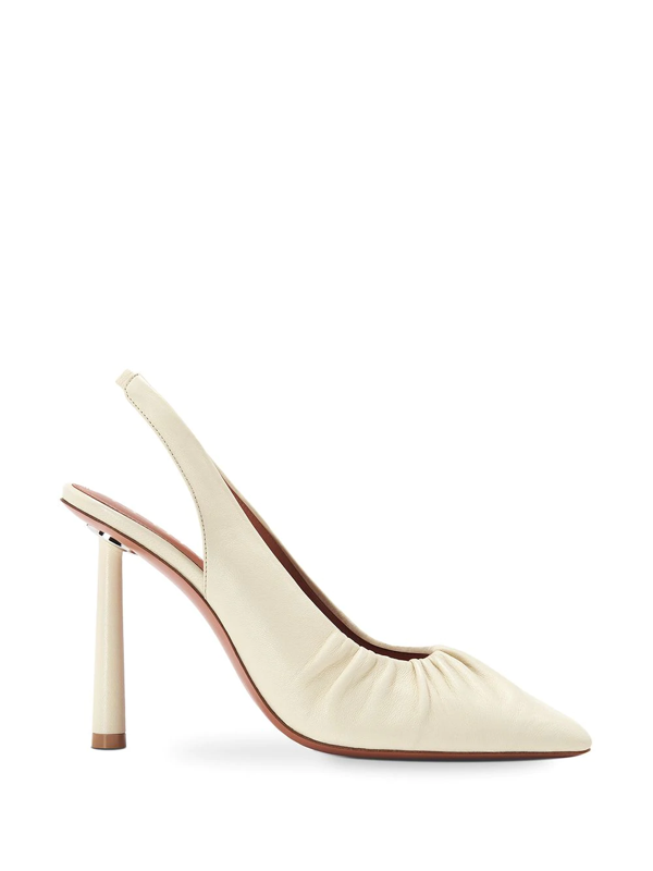 Fenty Don't Be Square 105mm Slingback Shoes In White