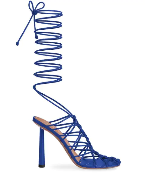 Fenty Caged In 105mm Sandals In Blue