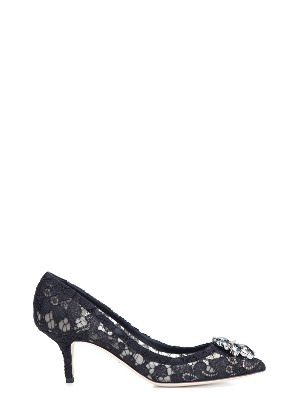 Dolce & Gabbana Dolce E Gabbana Women's Cd0066al19880999 Black Polyester Pumps