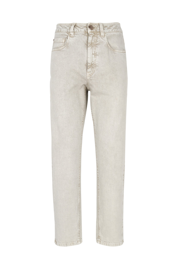 Brunello Cucinelli Women's Grey Cotton Jeans In Grigio