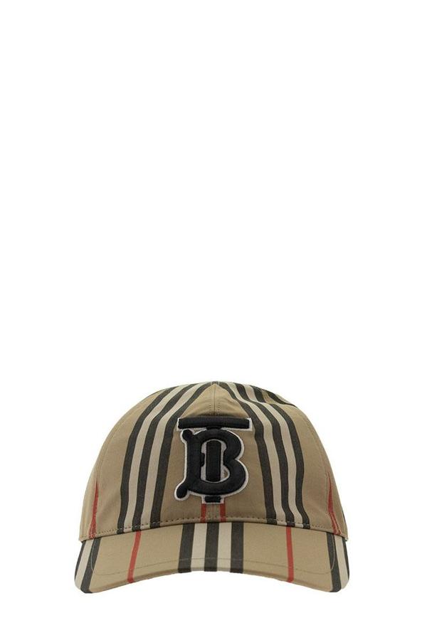Burberry Icon Stripe Baseball Cap In Archive Beige