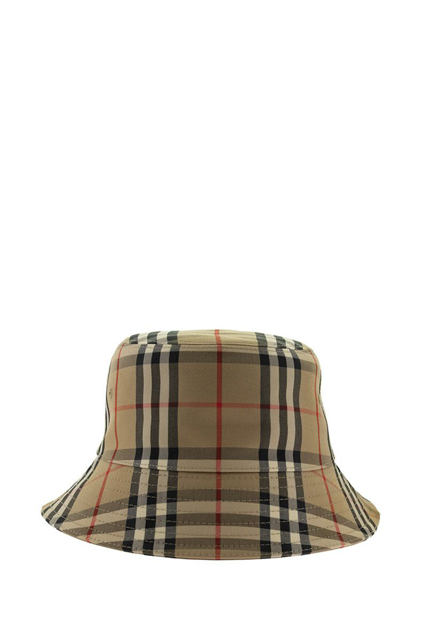 Burberry Vintage Check Cotton Blend Bucket Hat In Archive Beige