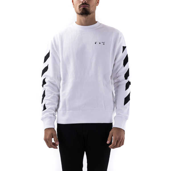 Off-white Men's White Cotton Sweatshirt In White - Black
