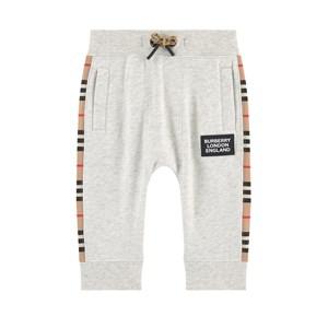 Burberry Babies'  Logo Print Tracksuit Pants In Grey