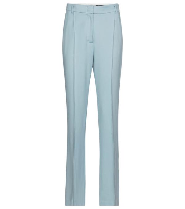 Dorothee Schumacher Women's Emotional Essence Slim Crepe Trousers In Blue