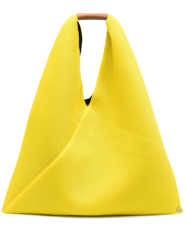 Mm6 Maison Margiela Md Japanese Net Tote Bag In Yellow